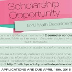 BYU Math Scholarship